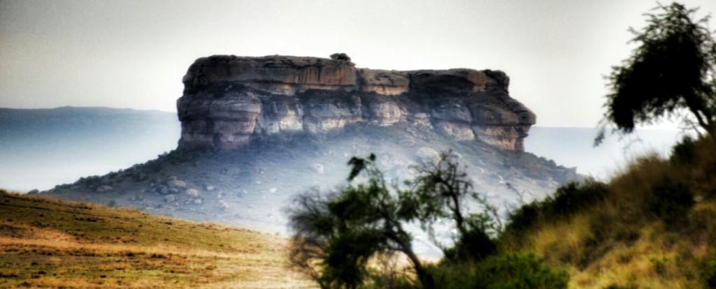 A mountain at Clarens Safari.