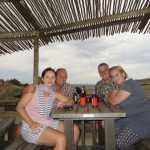 Friends enjoying the sights from the Veld Restaurant at Clarens Safari.